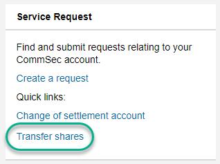 Transfer shares